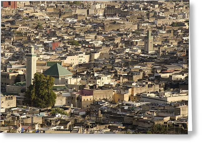 African Heritage Greeting Cards - Fez medina Morocco Greeting Card by Martin Turzak