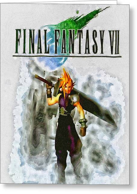 Final Fantasy Greeting Cards - FF7 Cloud Greeting Card by Joe Misrasi
