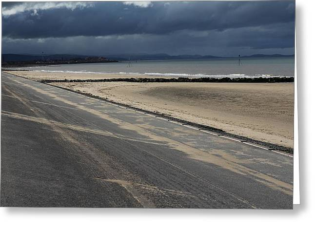Frith Greeting Cards - Ffrith Beach Lines Greeting Card by Emma Manners