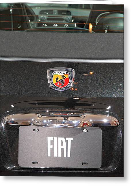 Fiat 500 Greeting Cards - Fiat 500 Abarth Greeting Card by Valentino Visentini