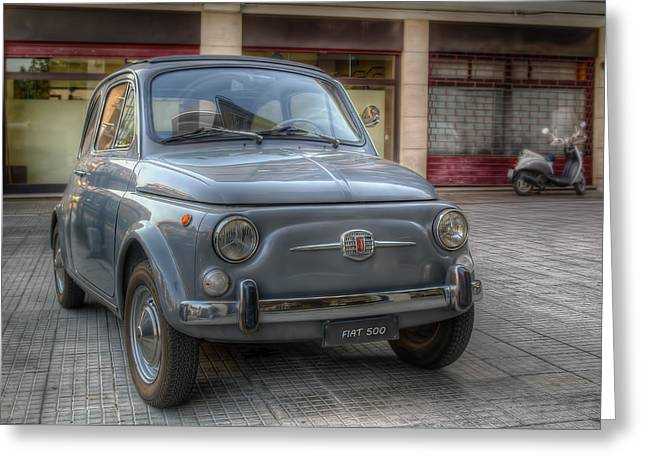 Fiat 500 Greeting Cards - Fiat 500 Greeting Card by Leonardo Marangi