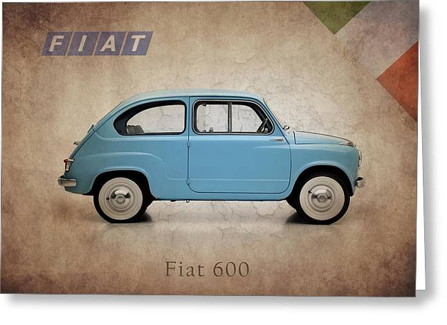 Fiat 500 Greeting Cards - Fiat 600 1956 Greeting Card by Mark Rogan