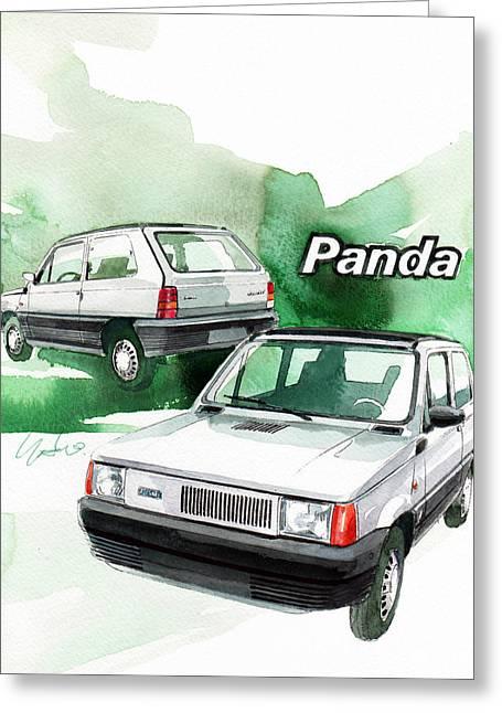 1st Greeting Cards - Fiat Panda Greeting Card by Yoshiharu Miyakawa