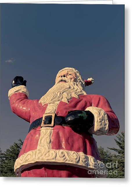 St. Nick Greeting Cards - Fiberglass Santa Claus Greeting Card by Edward Fielding