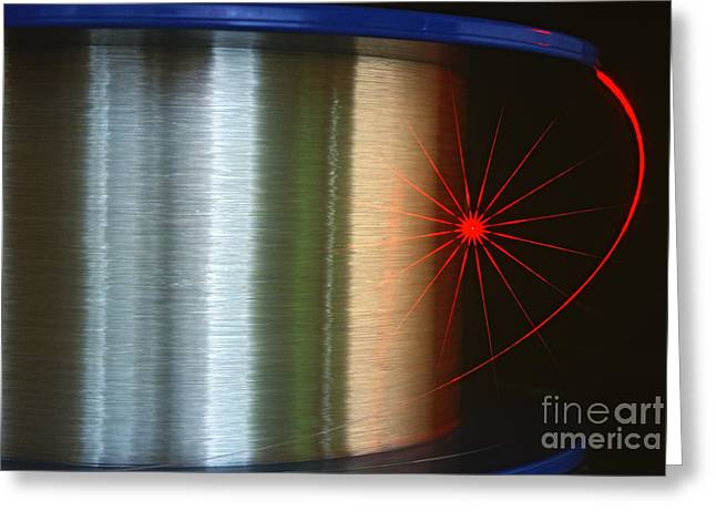 Fibre Optic Coil Greeting Card by James L. Amos
