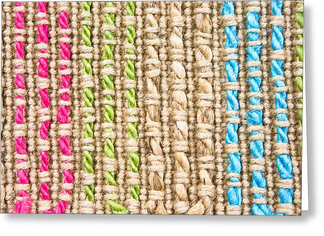 Beige Abstract Greeting Cards - Fibre texture Greeting Card by Tom Gowanlock