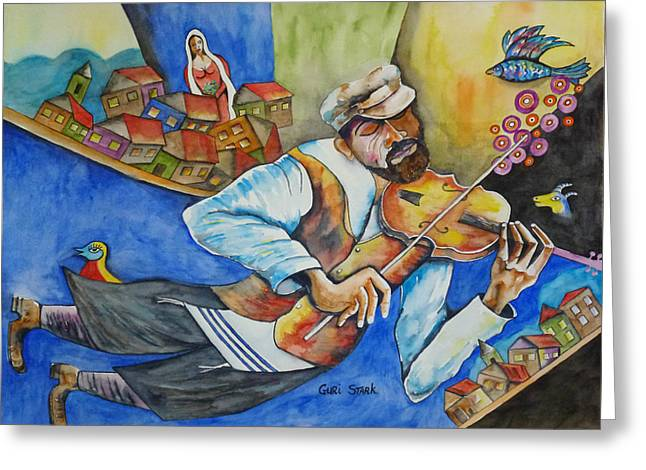 Fiddler On The Roof Greeting Cards - Fiddler on the Roofs Greeting Card by Guri Stark