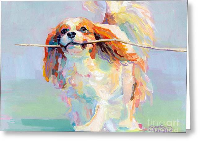 White Fur Greeting Cards - Fiddlesticks Greeting Card by Kimberly Santini