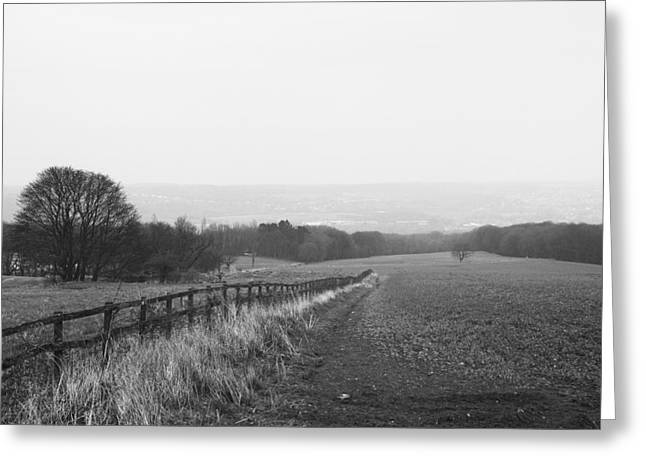 Ben Davis Greeting Cards - Field and Fence Greeting Card by Ben Davis