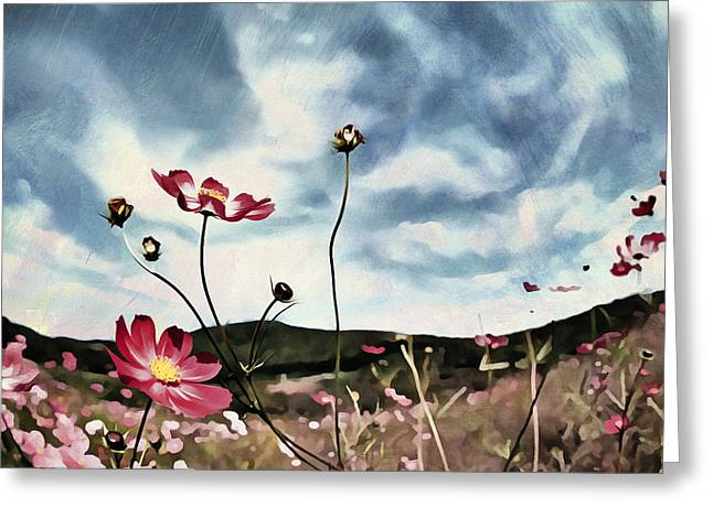 Lyrical Greeting Cards - Field Flowers Greeting Card by Georgiana Romanovna