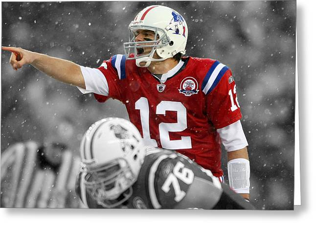 Field General Tom Brady  Greeting Card by Brian Reaves