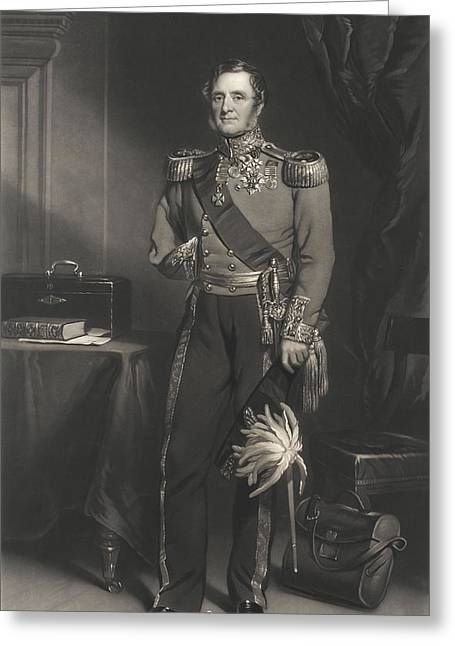 Full-length Portrait Greeting Cards - Field Marshal Lord Raglan Greeting Card by F. Grant