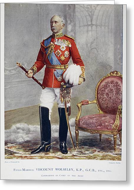 Field Marshall Viscount Wolseley Greeting Card by British Library