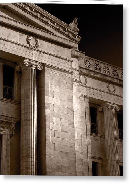 Institution Greeting Cards - Field Museum of Chicago BW Number 2 Greeting Card by Steve Gadomski