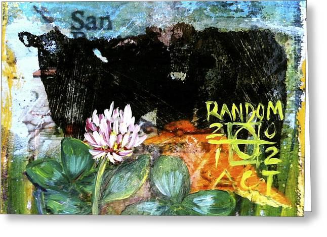 Field Of Clover Greeting Card by Andrea LaHue aka Random Act