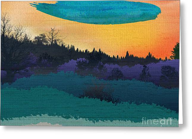 Color Enhanced Mixed Media Greeting Cards - Field Of Colors And Shades Greeting Card by Bedros Awak