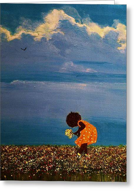 African-american Greeting Cards - Field of Colors Greeting Card by Edith Peterson-Watson