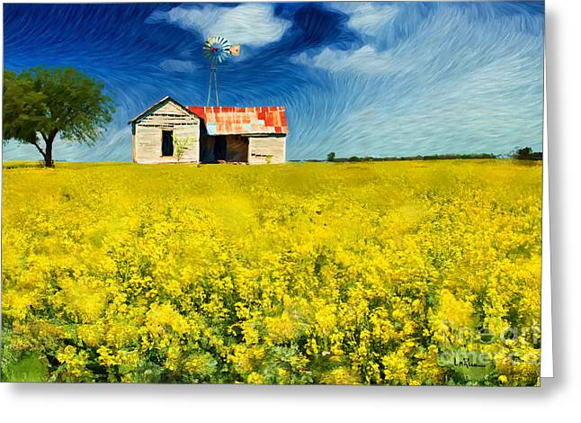 Rusty Tin Roof Greeting Cards - Field of Dreams Greeting Card by Betty LaRue