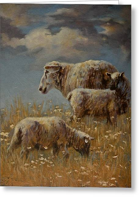 Art Of Mia Delode Greeting Cards - Field of Dreams Greeting Card by Mia DeLode