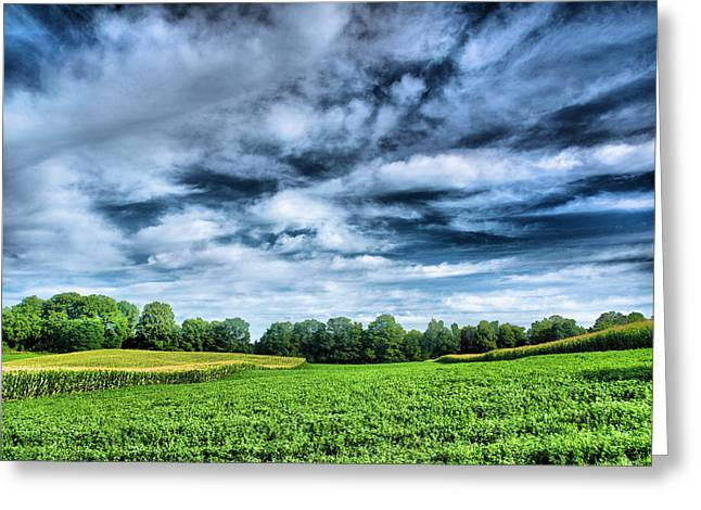 Finger Lakes Greeting Cards - Field of Dreams One Greeting Card by Steven Ainsworth