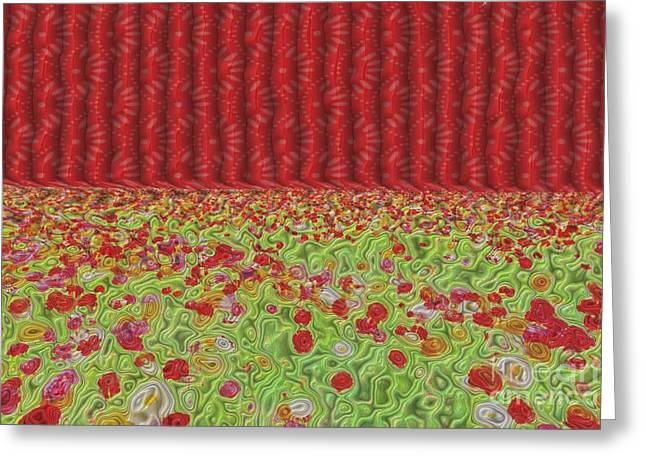 Grate Digital Greeting Cards - Field Of Flowers Abstract Greeting Card by Liane Wright