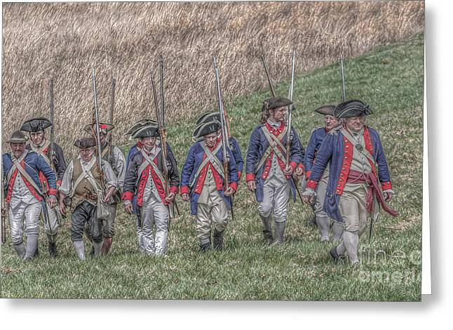 Loyalist Greeting Cards - Field of Honor American Revolution Greeting Card by Randy Steele