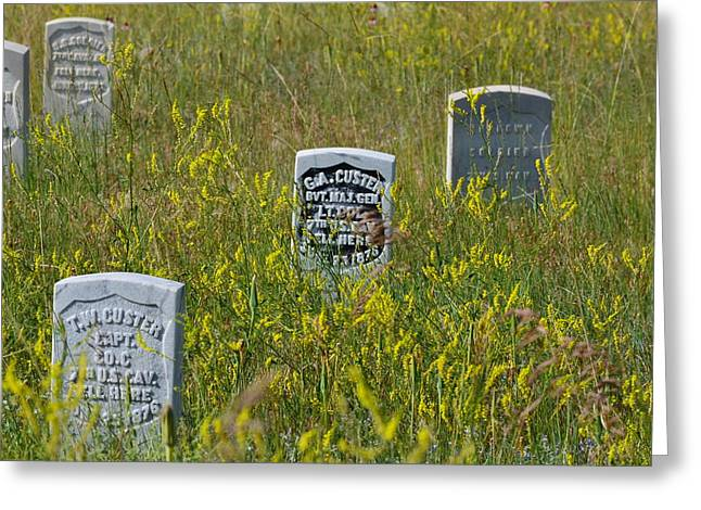 Little Big Horn Photographs Greeting Cards - Field Of Stones Greeting Card by Peter Hennessey