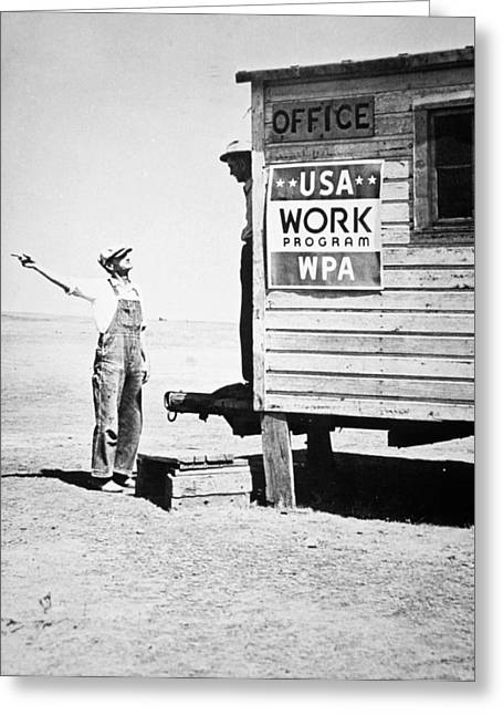 President Of America Photographs Greeting Cards - Field office of the WPA Government Agency Greeting Card by American Photographer