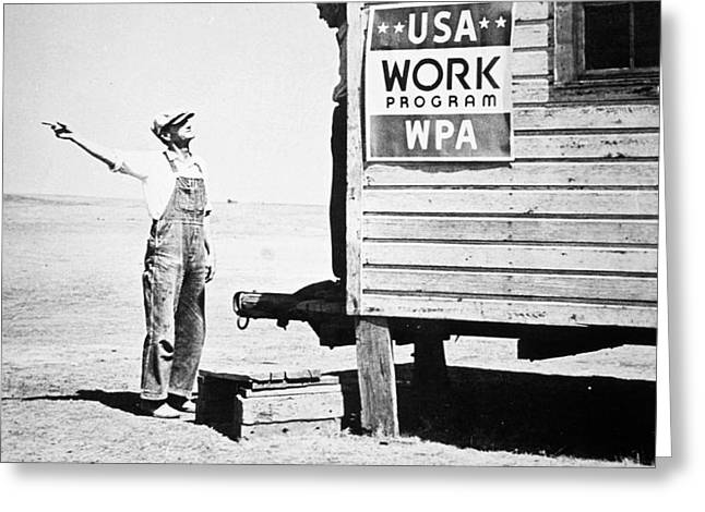 Field office of the WPA Government Agency Greeting Card by American Photographer