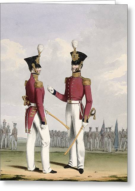 """battle Field"" Greeting Cards - Field Officers Of The Royal Marines Greeting Card by L. and Eschauzier, St. Mansion"