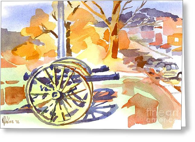 Afternoon Battle Greeting Cards - Field Rifles in Watercolor Greeting Card by Kip DeVore