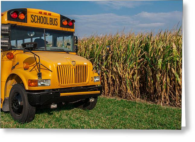 Harvest Time Greeting Cards - Field Trip Greeting Card by Gene Sherrill