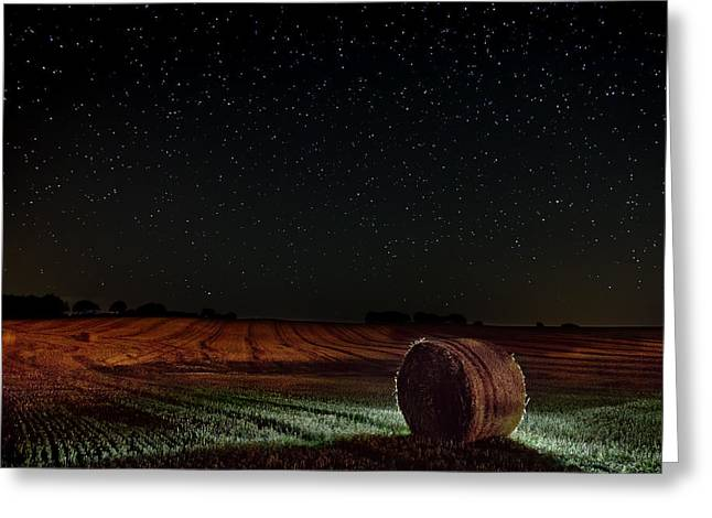 Season Greeting Cards - Fields at Night Greeting Card by EXparte SE