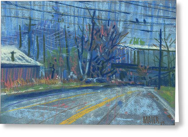 Mt Pastels Greeting Cards - Fields Drive Greeting Card by Donald Maier