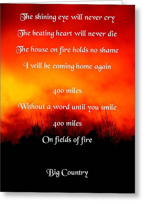 The Seer Greeting Cards - Fields of Fire Greeting Card by Guy Pettingell