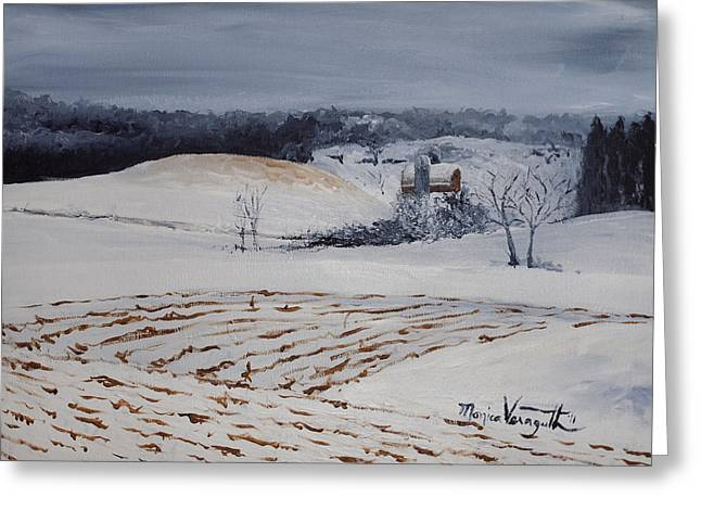 Monica Veraguth Greeting Cards - Fields of White Greeting Card by Monica Veraguth