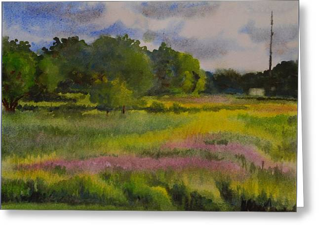 Wet Into Wet Watercolor Greeting Cards - Fields of Wild Flowers Greeting Card by Heidi E  Nelson