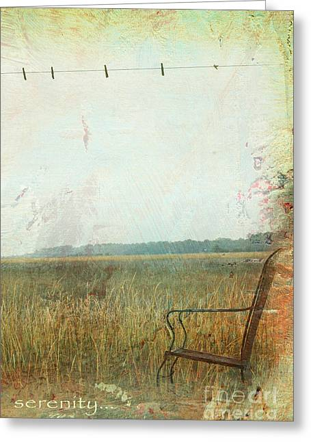 Chic Mixed Media Greeting Cards - Fields of Zen  Greeting Card by Anahi DeCanio