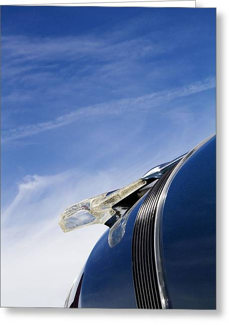 Blue Classic Car Greeting Cards - Fierce Chief Greeting Card by Rebecca Cozart