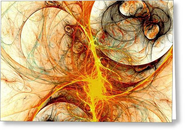 Fiery Birth Greeting Card by Anastasiya Malakhova