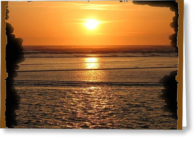 Fiery Cannon Beach Sunset Greeting Card by Will Borden