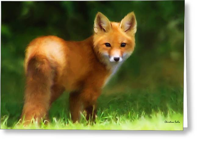 Carnivore Greeting Cards - Fiery Fox Greeting Card by Christina Rollo