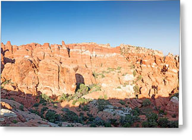 Nicholas Greeting Cards - Fiery Furnace Panorama Greeting Card by Nicholas Blackwell