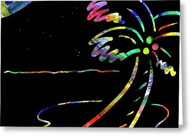 Moonglow Greeting Cards - Fiery Palm V MOONGLOW Greeting Card by Diane Thornton