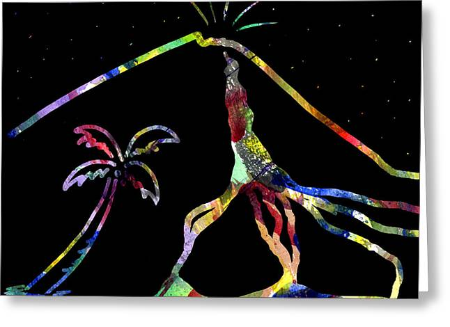 Moonglow Greeting Cards - Fiery Palm VI LAVA FLOW Greeting Card by Diane Thornton