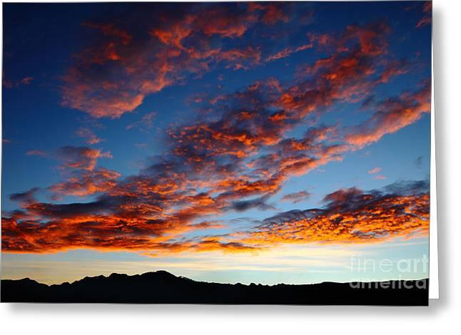 Fiery Skies Greeting Card by James Brunker