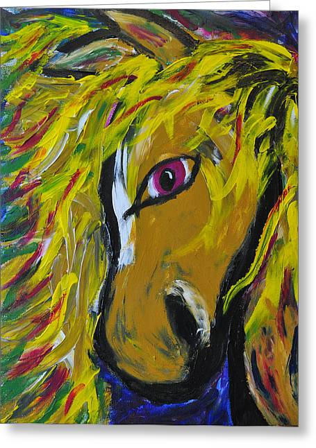 Fiery Steed Greeting Card by JAMART Photography