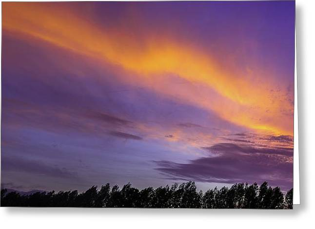 D700 Greeting Cards - Fiery Sunset Greeting Card by Chris Modlin