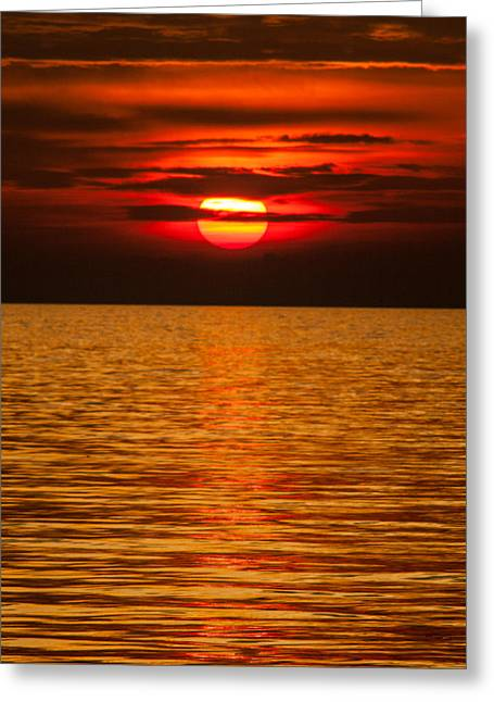 Croatia Greeting Cards - Fiery sunset Greeting Card by Davorin Mance