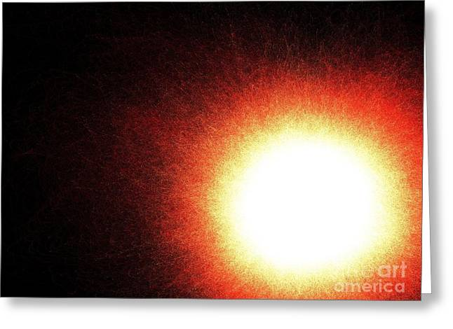 Decorator Set Greeting Cards - Fiery Sunset Greeting Card by Renee Trenholm